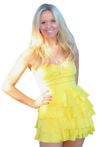 Full Body Alpha Yellow Dress