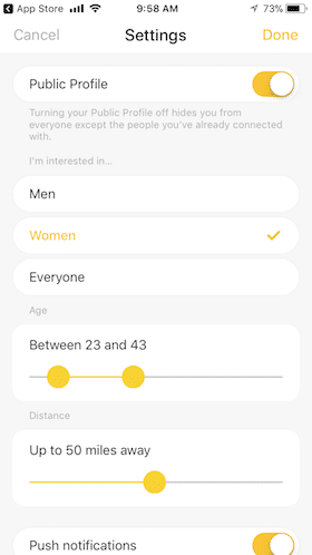 what does a heart mean on bumble