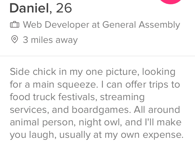Profile text best tinder The 3