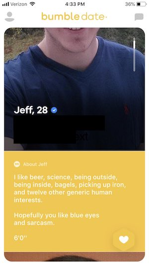 clever online dating profile examples