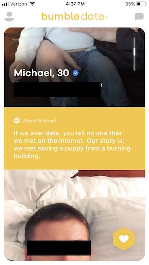 good opening joke for online dating