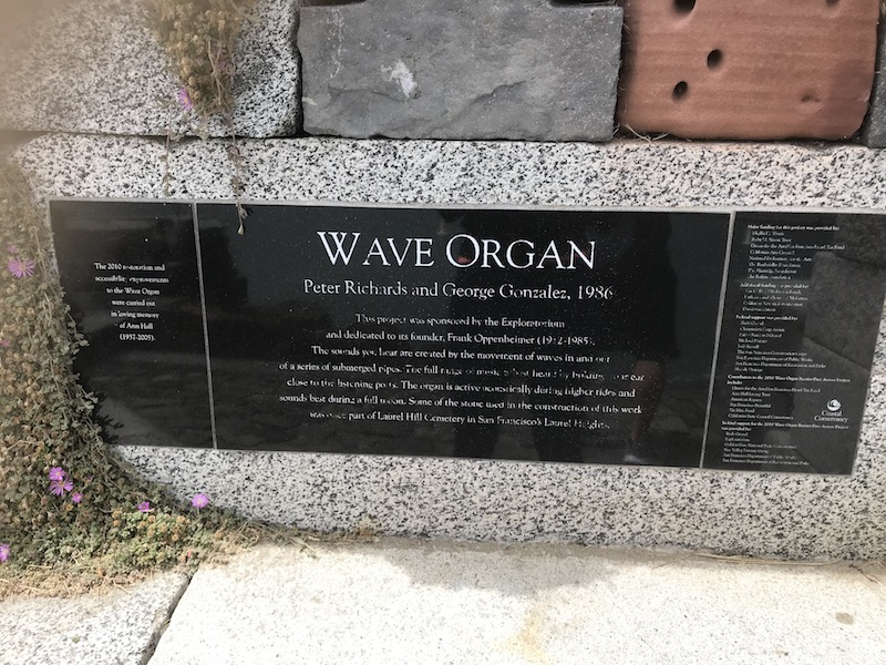 Second Date Ideas SF: Wave Organ