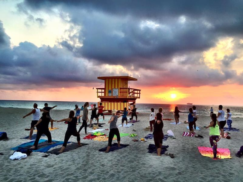 Best Miami Date Spots: Sunset Yoga on the Beach
