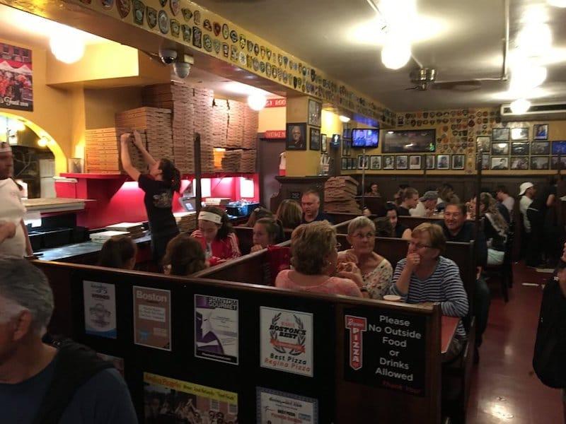 Pizzeria Regina: Boston Game Night Date Idea