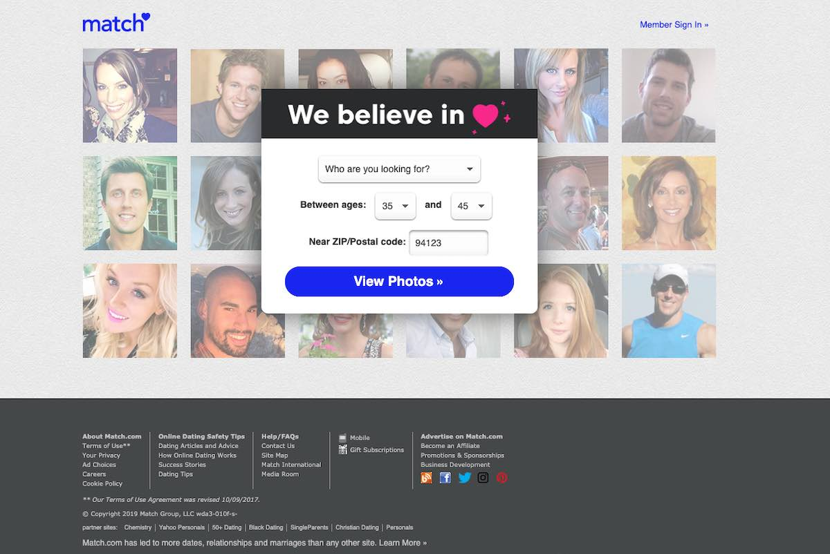 Dating site no matches found signs