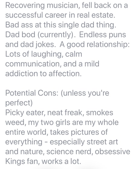 facebook dating bios for guys